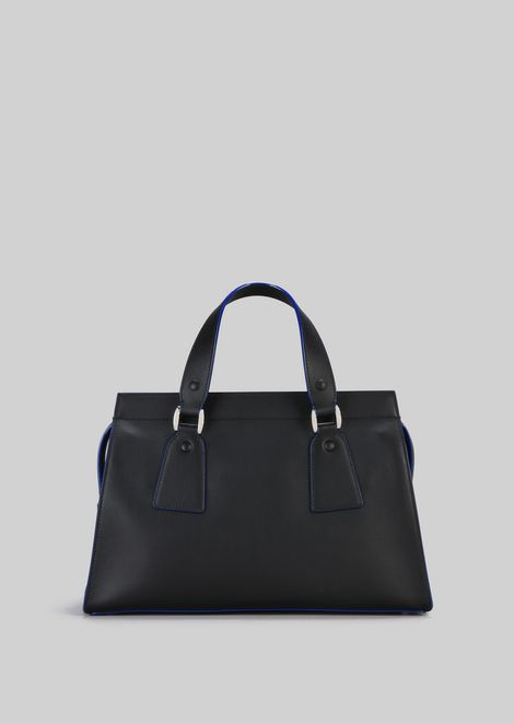 TOP HANDLE BAG IN VEGETABLE TANNED CALFSKIN: Top Handles Women by Armani - 4