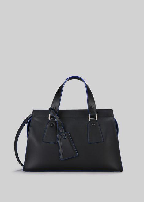TOP HANDLE BAG IN VEGETABLE TANNED CALFSKIN: Top Handles Women by Armani - 1