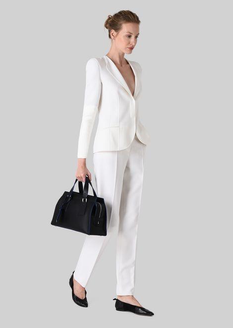 TOP HANDLE BAG IN VEGETABLE TANNED CALFSKIN: Top Handles Women by Armani - 2
