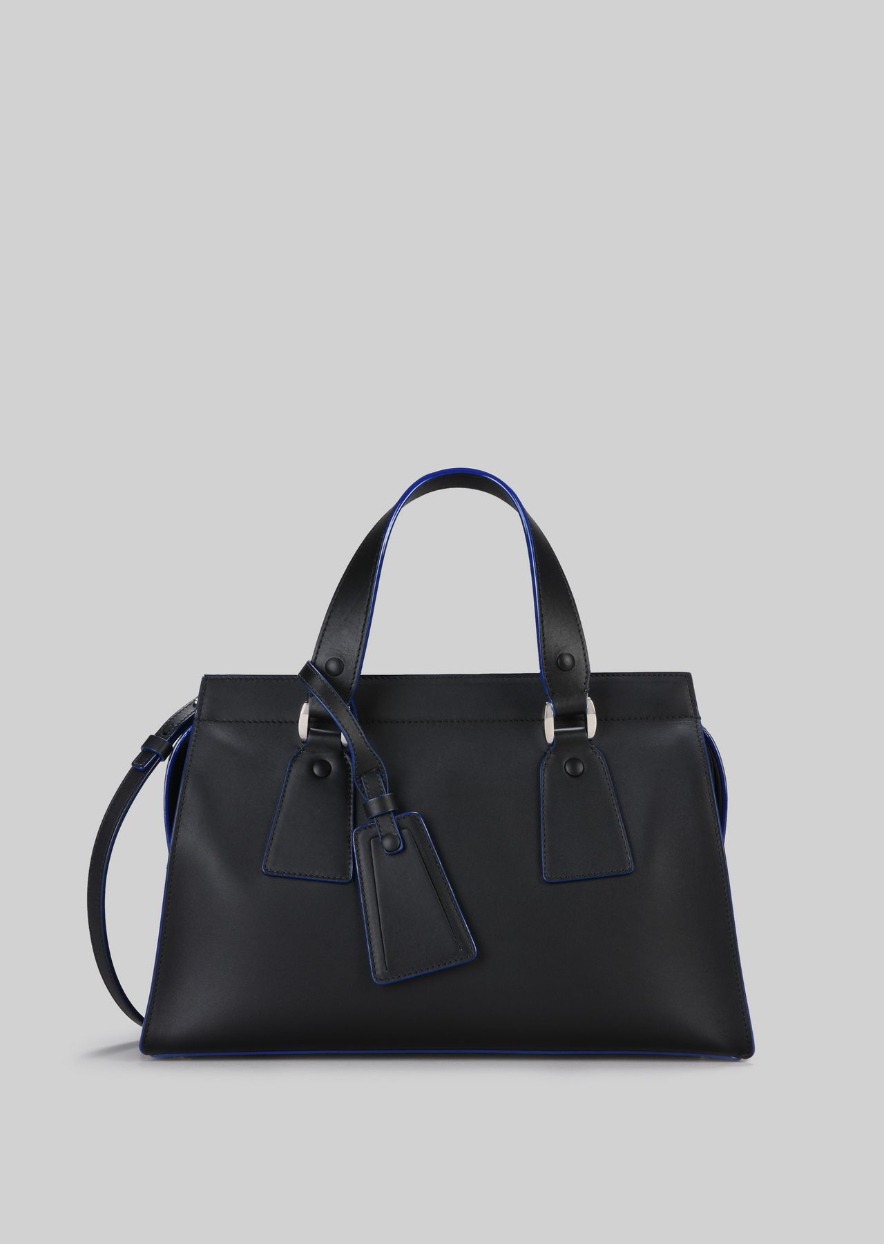 TOP HANDLE BAG IN VEGETABLE TANNED CALFSKIN: Top Handles Women by Armani - 0