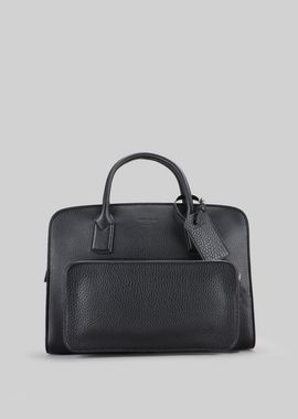 Armani Briefcases Men leather briefcase with handles