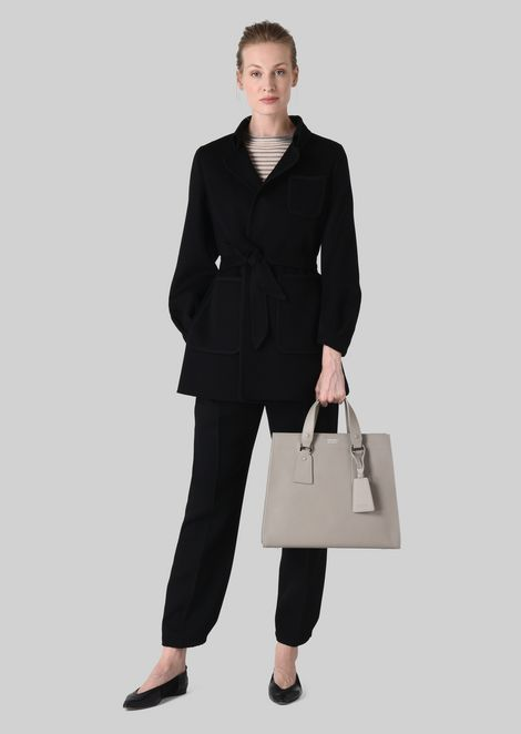 TOTE BAG IN VEGETABLE TANNED CALFSKIN: Shoppers Women by Armani - 2