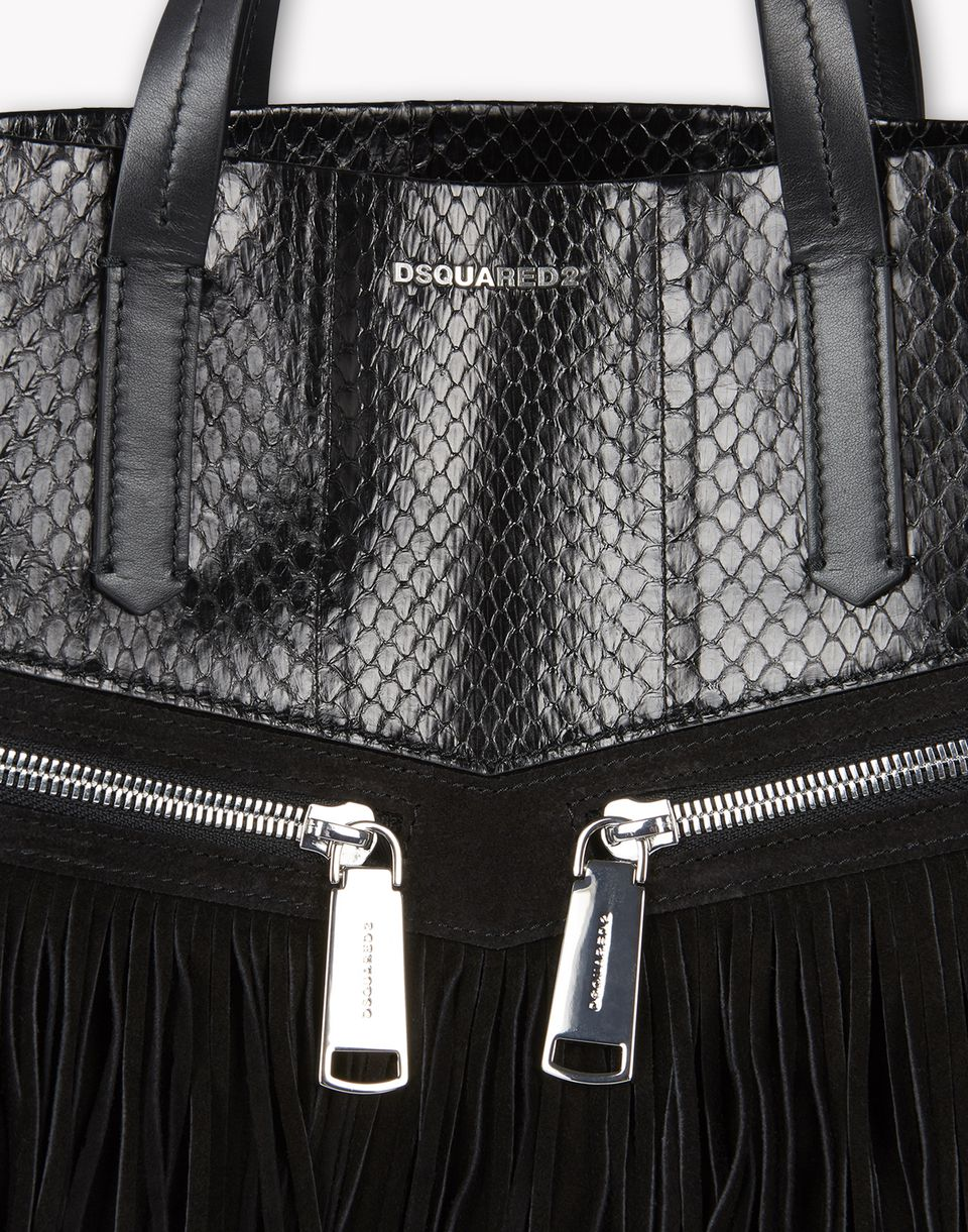 fringed leather rock tote bags Woman Dsquared2