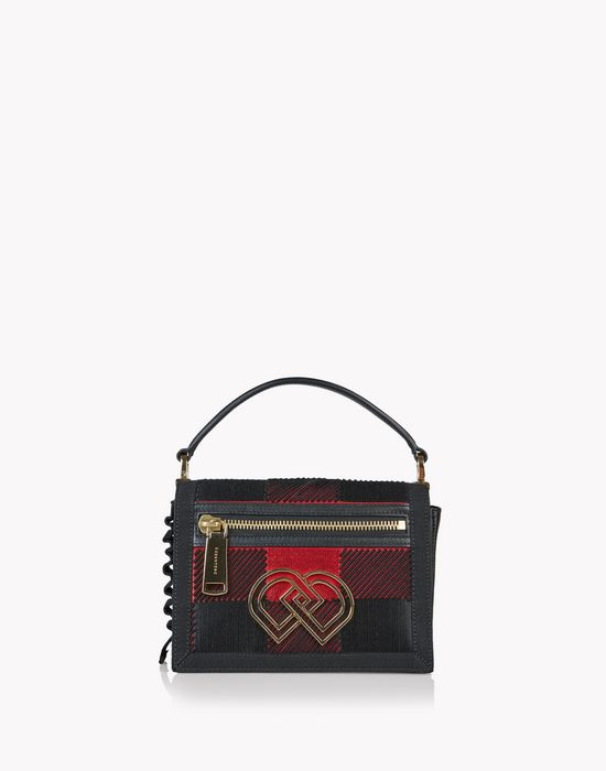 check medium dd shoulder bag taschen Damen Dsquared2