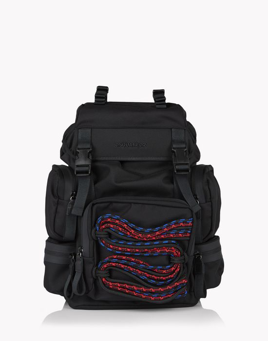 akira techno cord backpack bags Man Dsquared2