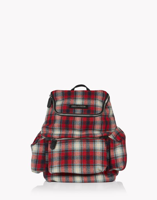 check hiro backpack bolsos Hombre Dsquared2