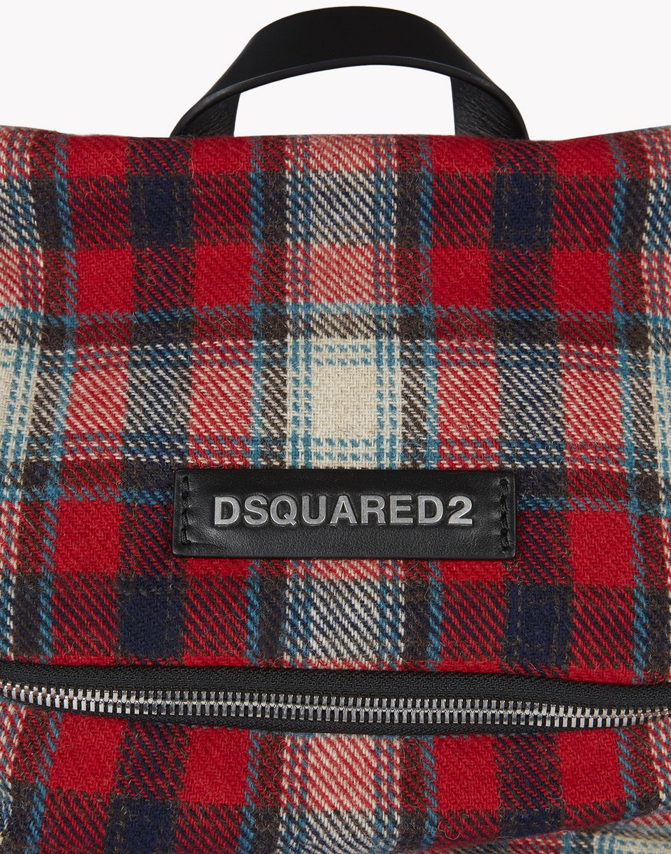 check hiro backpack bags Man Dsquared2