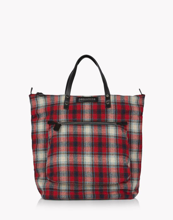 check hiro tote handbags Man Dsquared2