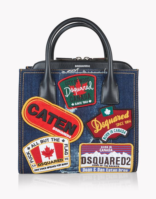 denim patch deana handbag sacs Femme Dsquared2
