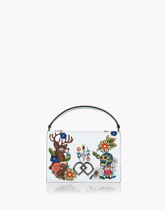 tattoo embroidered dd shoulder bag сумки Для Женщин Dsquared2