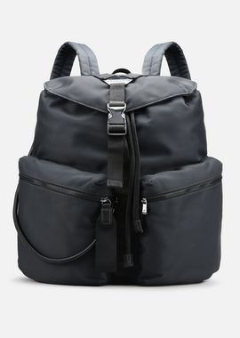 Armani Backpacks Men cordura backpack with eco-leather details