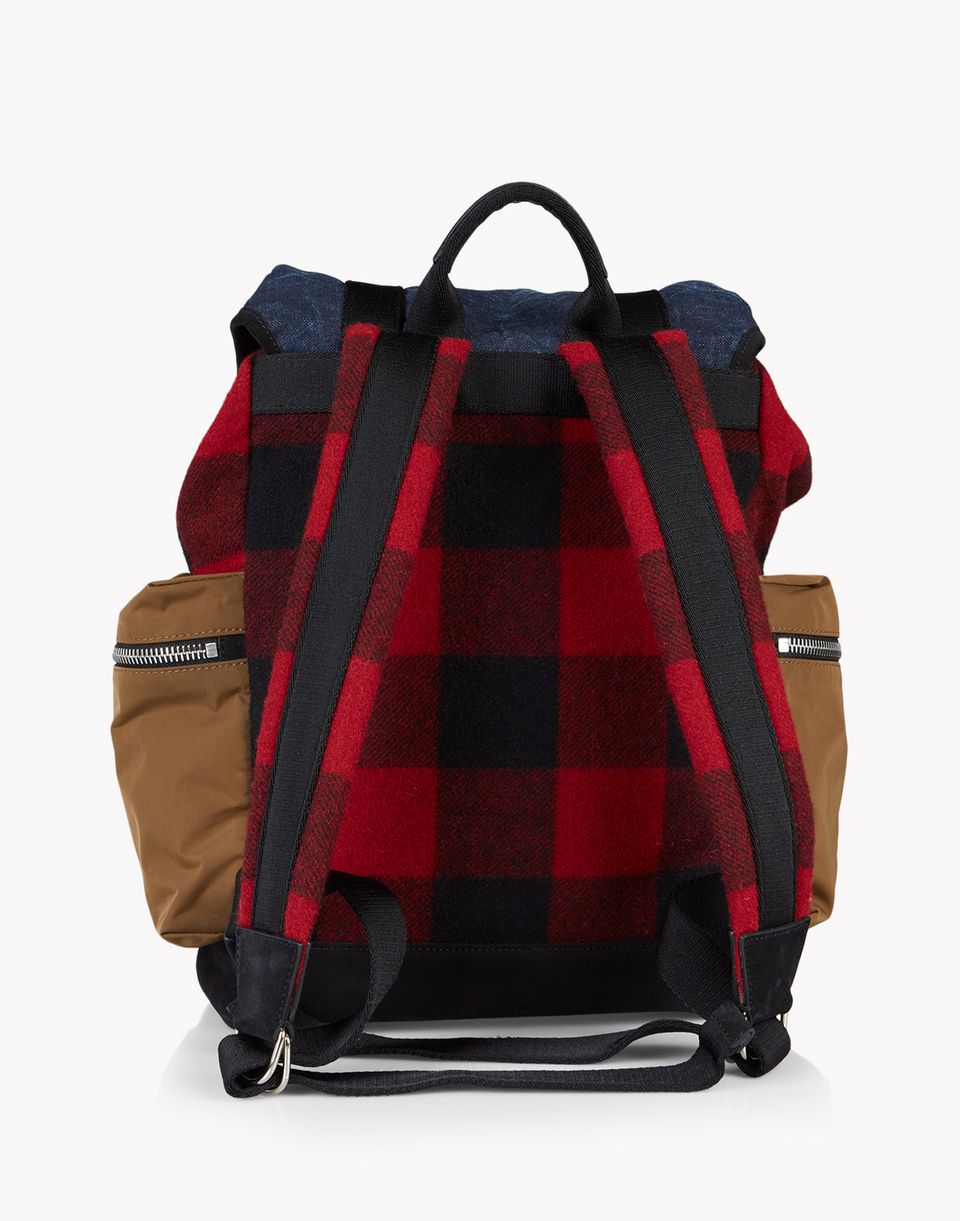 denim check donald backpack taschen Herren Dsquared2