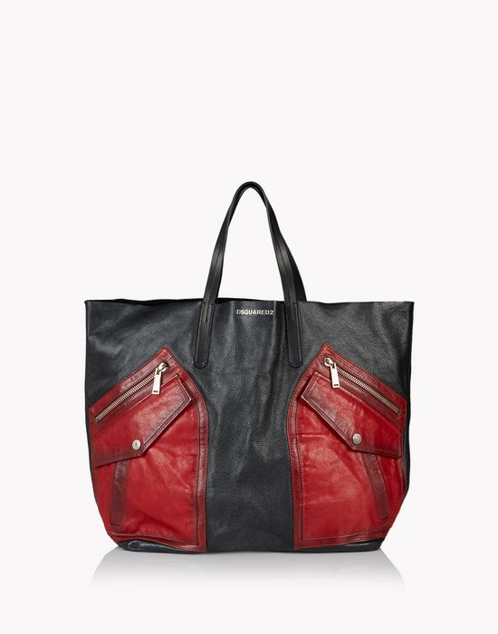 contrasted pocket rock tote bags Man Dsquared2