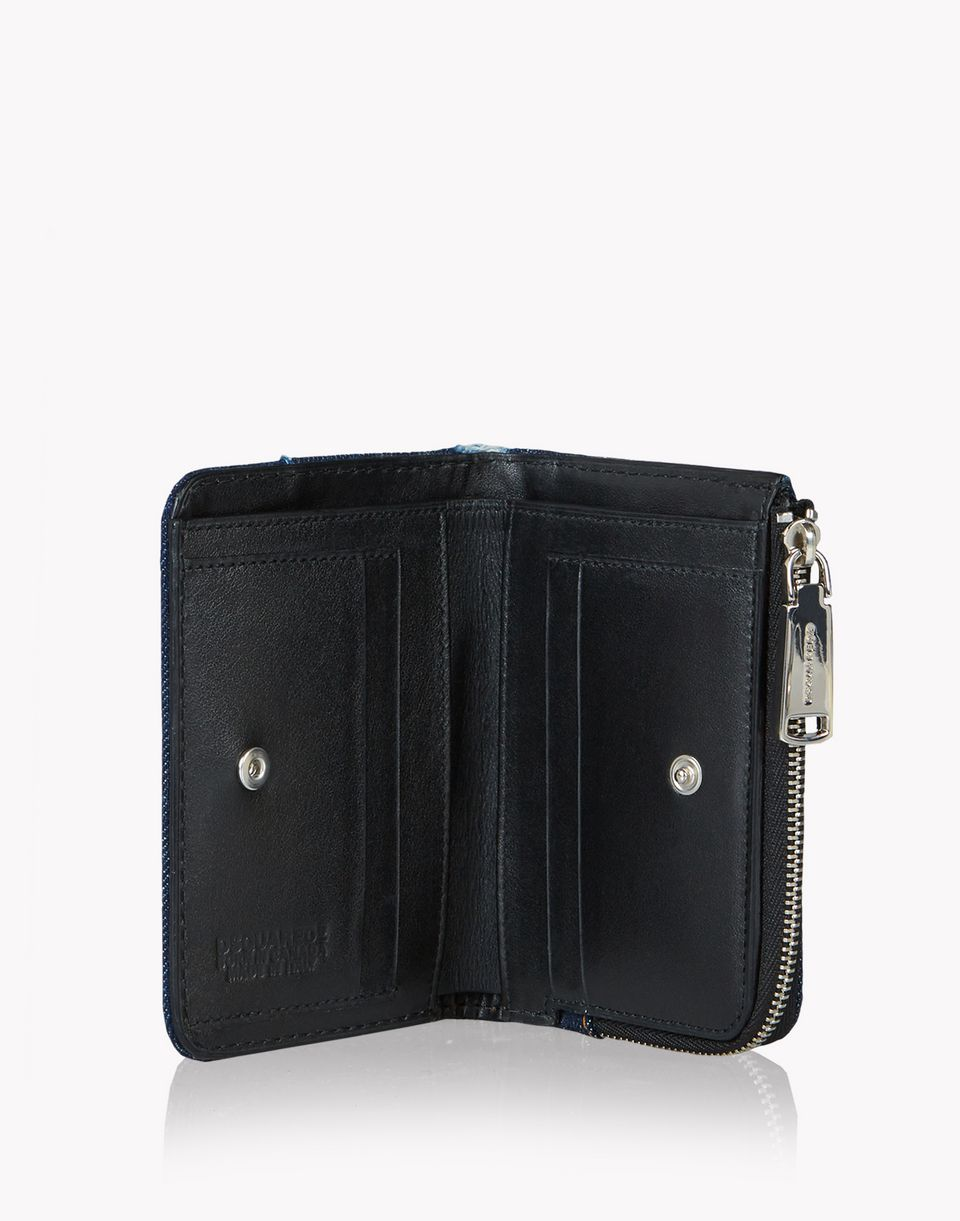 mini denim patch zip wallet weitere accessoires Damen Dsquared2