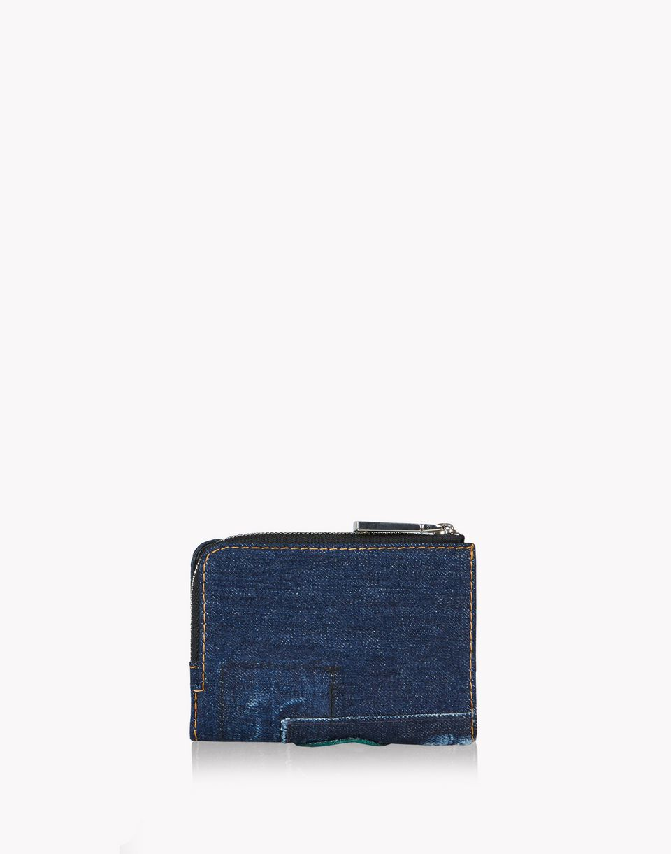 mini denim patch zip wallet other accessories Woman Dsquared2