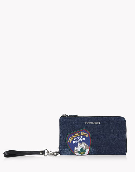 denim patch zip wallet weitere accessoires Damen Dsquared2