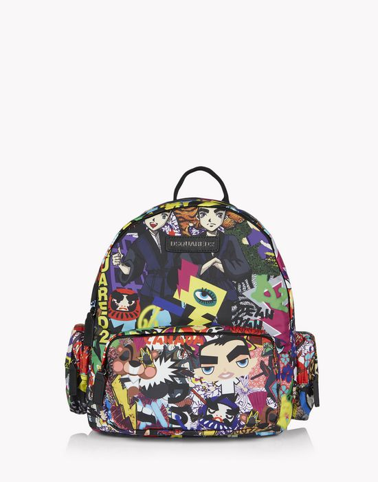manga printed backpack borse Uomo Dsquared2
