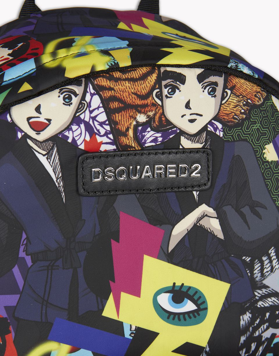 manga printed backpack handbags Man Dsquared2