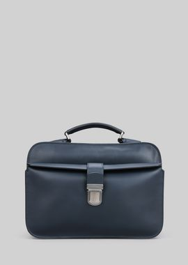 Armani Briefcases Men leather briefcase with handle