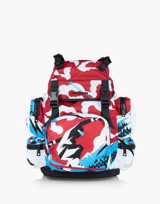 akira ski print backpack  borse Uomo Dsquared2