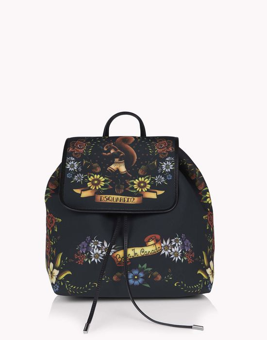 tattoo print alberta backpack bags Woman Dsquared2
