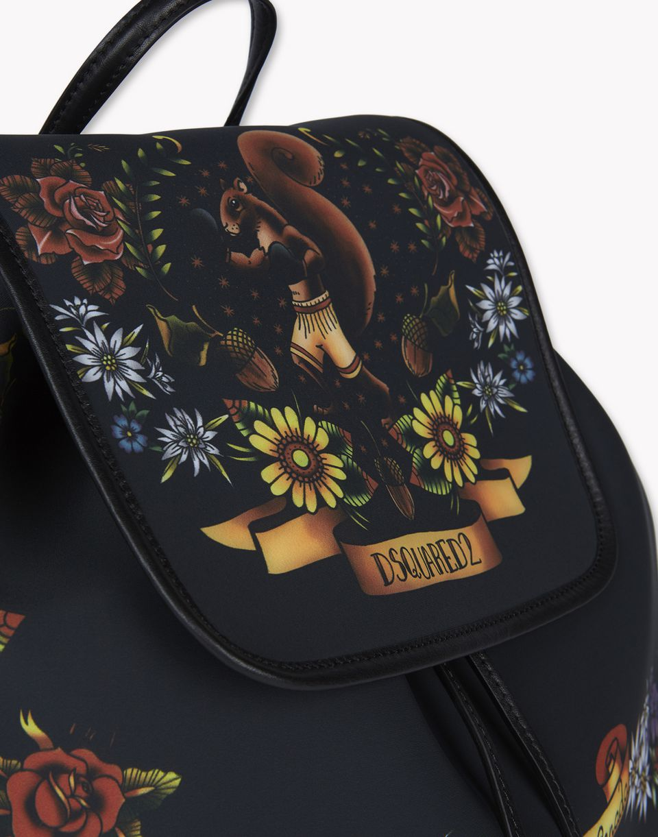 tattoo print alberta backpack handbags Woman Dsquared2
