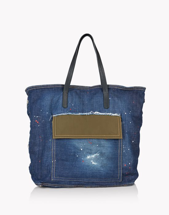 rock denim tote handbags Man Dsquared2
