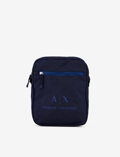 아르마니 익스체인지 Armani Exchange CLASSIC LOGO CROSSBODY,Dark Blue