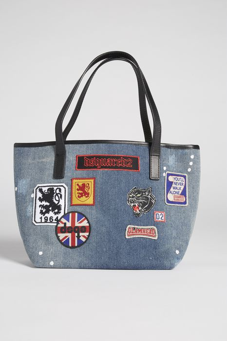 patches denim bag bolsos Mujer Dsquared2