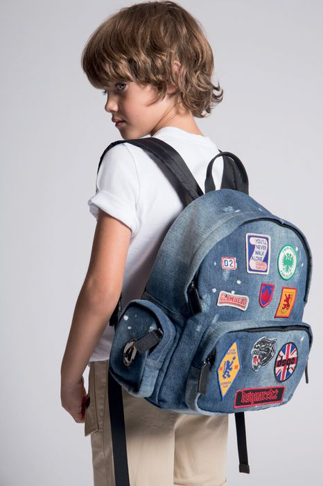 patches denim backpack handbags Man Dsquared2