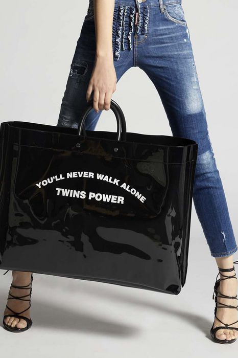 twins power large tote bag bags Woman Dsquared2