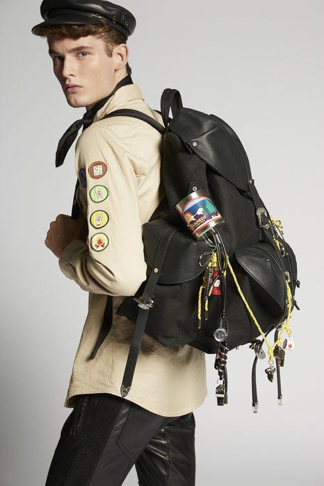 hawaiian rocker gothika backpack handbags Man Dsquared2