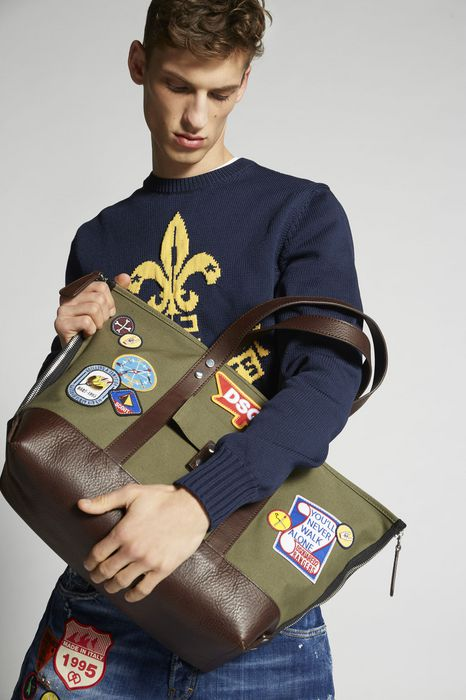 bad scout military trimmed tote bag handbags Man Dsquared2