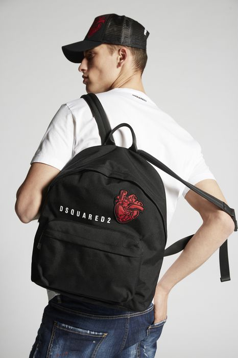 bad scout heart patch backpack bolsos Hombre Dsquared2