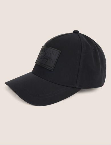 아르마니 익스체인지 Armani Exchange LEATHER LOGO PATCH HAT,Navy Blue