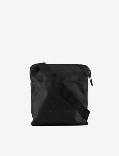 아르마니 익스체인지 Armani Exchange LARGE LOGO CROSSBODY,Black