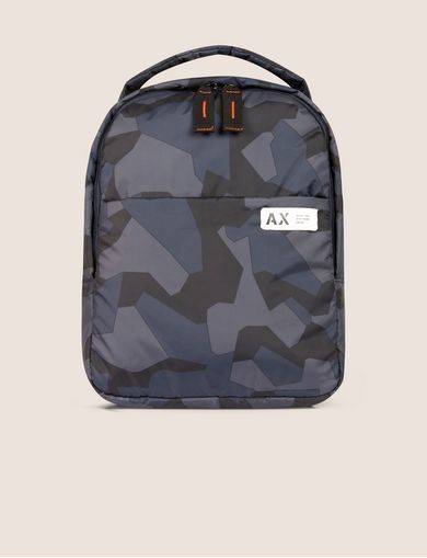 아르마니 익스체인지 Armani Exchange GEO CAMO PADDED BACKPACK,Blue