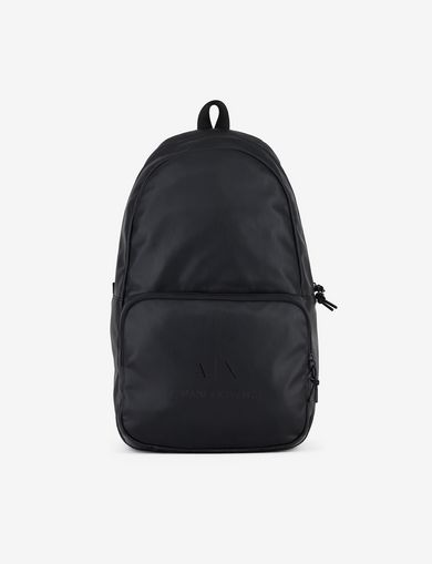 아르마니 익스체인지 Armani Exchange CLASSIC MINIMALIST LOGO BACKPACK,Black