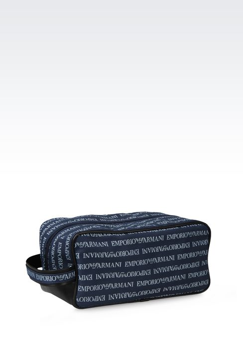 FABRIC BEAUTY CASE WITH LOGO: Cosmetic cases Men by Armani - 3