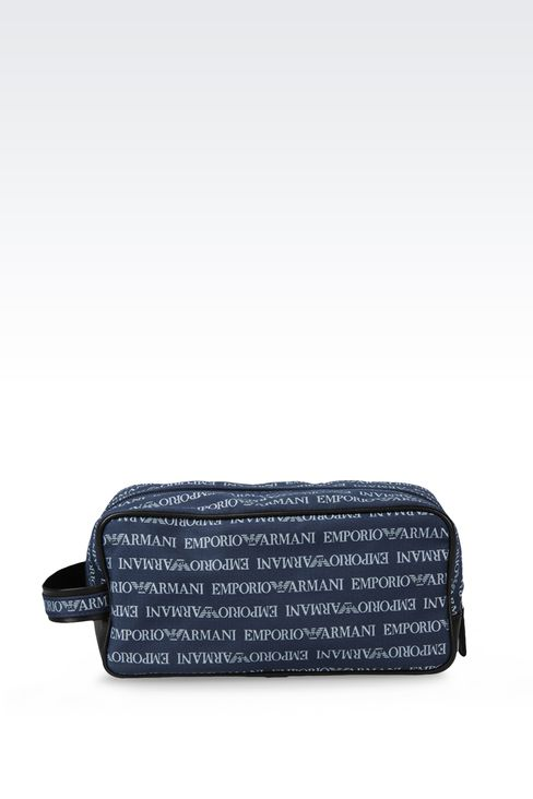 FABRIC BEAUTY CASE WITH LOGO: Beauty case Men by Armani - 1