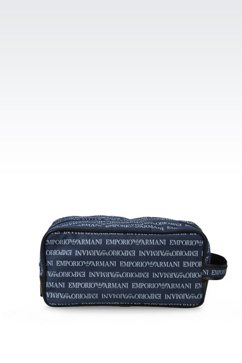 FABRIC BEAUTY CASE WITH LOGO: Cosmetic cases Men by Armani - 2
