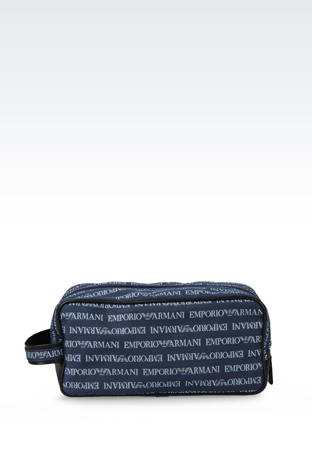 FABRIC BEAUTY CASE WITH LOGO: Beauty case Men by Armani - 0