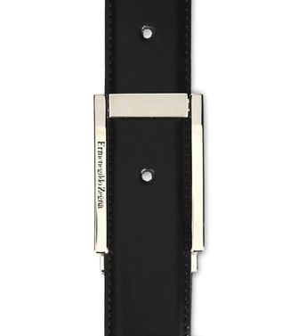 ERMENEGILDO ZEGNA: Belt Black - Dark brown - 46199687VN