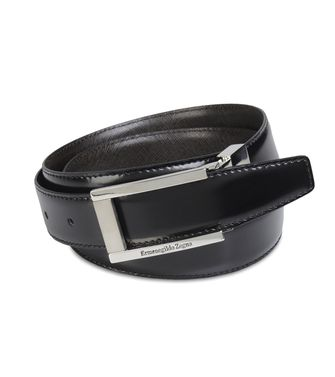 ERMENEGILDO ZEGNA: Belt Dark brown - Black - 46199687VN