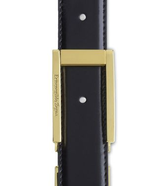 ERMENEGILDO ZEGNA: Belt Black - Dark brown - 46199688AM