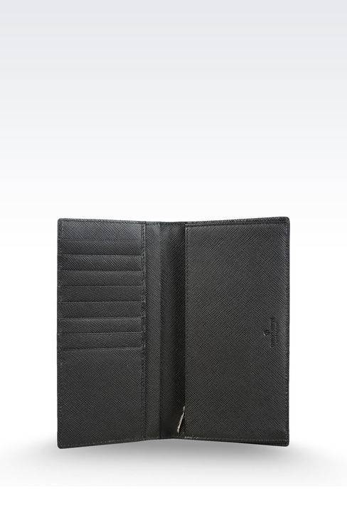 WALLET IN SAFFIANO CALFSKIN: Wallets Men by Armani - 3