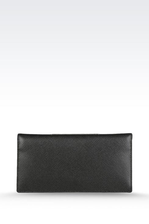 WALLET IN SAFFIANO CALFSKIN: Wallets Men by Armani - 1