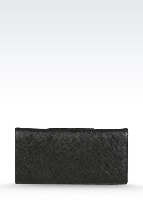 WALLET IN SAFFIANO CALFSKIN: Wallets Men by Armani - 2