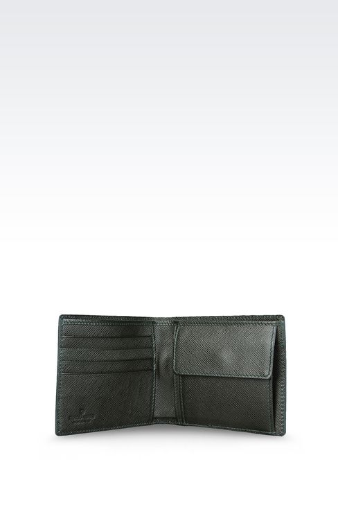 BI-FOLD WALLET IN SAFFIANO CALFSKIN WITH COIN PURSE: Wallets Men by Armani - 3