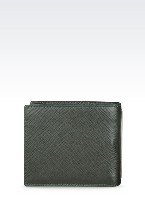 BI-FOLD WALLET IN SAFFIANO CALFSKIN WITH COIN PURSE: Wallets Men by Armani - 2